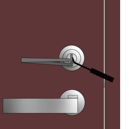 玄関の鍵をピッキングするイラスト